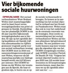 20130613 - het nieuwsblad - sociale huurwoningen