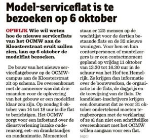 20130912 het nieuwsblad - model serviceflats