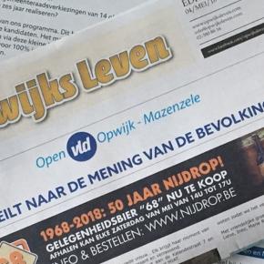 Open VLD peilt naar de mening van debevolking